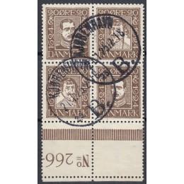 DK 0140-0143 Pænt stemplet 4-blok