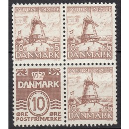 DK 0237+0235 Ustemplet DYBBØL blok