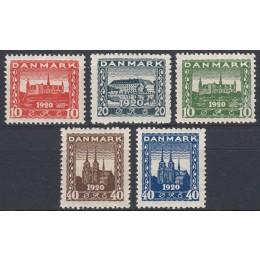 DK 0112-0116 Postfrisk serie Genforening