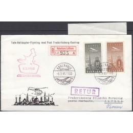 DK 0219-0220 Pænt Luftpost retur brev