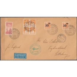 DK 0222 m.fl på flot Luftpost brev MARIBO - KBH