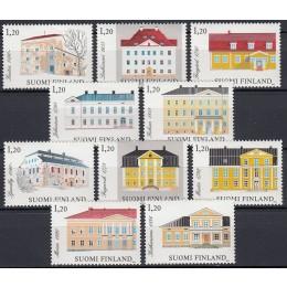 FIN 0909-0918 Postfrisk serie - Herregårde