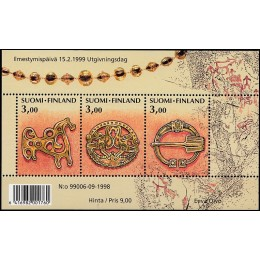 FIN 1455-1457 Postfrisk miniark