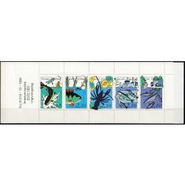 FIN 1123-1127 Postfrisk sammentryk i hæfte