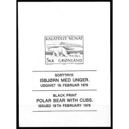 GR 096 Postfrisk sorttryk af Isbjørn 5 kr