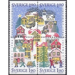 SV - 1394-1397 Postfrisk sammentryk