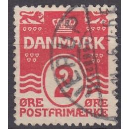 DK 0078bw Stemplet 2 øre m. god VARIANT