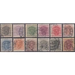 SV - TJ 17-29 Stemplet serie (VM krone) (uden nr. 18)