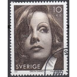 SV - 2424 Stemplet 10 kr. Greta Garbo - 4-sidet takket