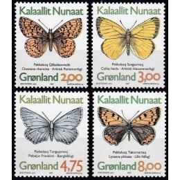 GR 304-307 Postfrisk serie sommerfugle