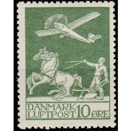 DK 0144 Postfrisk 10 øre Gl. Luftpost