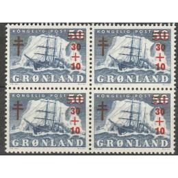 GR 040 Postfrisk 4-blok