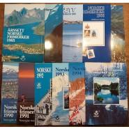 NO  Årsmapper 1985-1995 - pæne postfriske mapper
