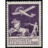 DK 0145 Postfrisk 15 øre Gl. Luftpost