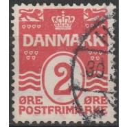 DK 0078 Stemplet 2 øre m. mulig VARIANT