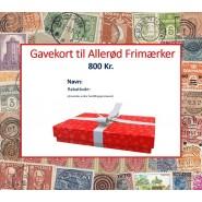 Gavekort 800 kr.