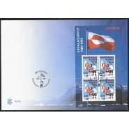 GR 275a miniark FDC - på matchende kuvert