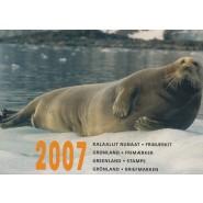 GR Årsmappe 2007 - Postfrisk (uden pakkeporto arket)