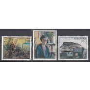 FØ  112-114 Postfrisk serie - Malerier