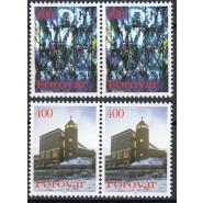 FØ  281-282 Postfriske parstykker - Julefrimærker
