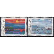 FØ  154-155 Postfrisk serie - Torshavn Bugt