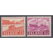 ISL 0276-0277 Postfrisk/ustemplet serie