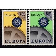 ISL 0410-0411 Postfriske Europamærker