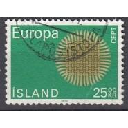ISL 0444 Stemplet Europamærke