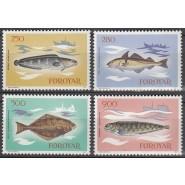FØ  080-083 Postfrisk serie Fisk