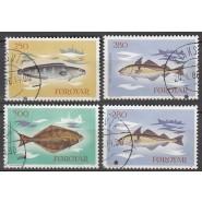 FØ  080-083 Stemplet serie Fisk