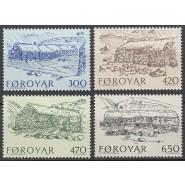 FØ  139-142 Postfrisk serie - Bondegårde
