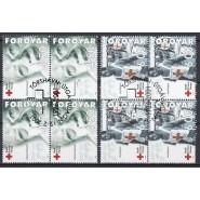FØ  383-384 Stemplet 4-blokke