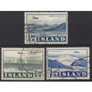 ISL 0279-0281 Stemplet serie Luftpost