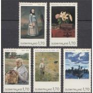 FIN 1019-1023 Postfrisk serie Malerier