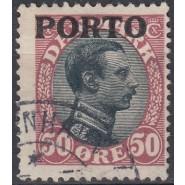 DK PO 07 Stemplet 50 øre Porto