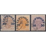 SV - 0138-0140 Stemplet sæt luftpost provisorier 1920