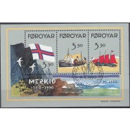 FØ  194-196 Stemplet miniark