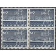 DK 0409F Postfrisk 60 øre SELANDIA i 4-blok