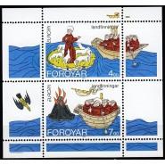 FØ  252a-253a Postfrisk miniark