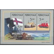 FØ  194-196 Postfrisk miniark