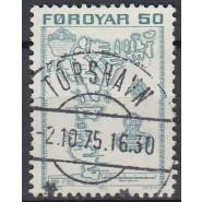 FØ  003 FLOT/LUX stemplet (TORSHAVN) 50 øre