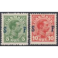DK SF 1+2 Postfrisk sæt soldaterfrimærker