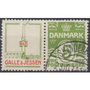 DK RE 44 Pænt stemplet 5 øre reklame Galle og Jessen