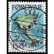FØ  028 LUX stemplet (SKALI Pr. TORSHAVN)