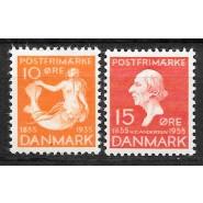 DK 0225-0226 Postfriske mærker