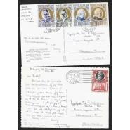VAT - To frankerede postkort fra vatikanet 1953 - 2 scans